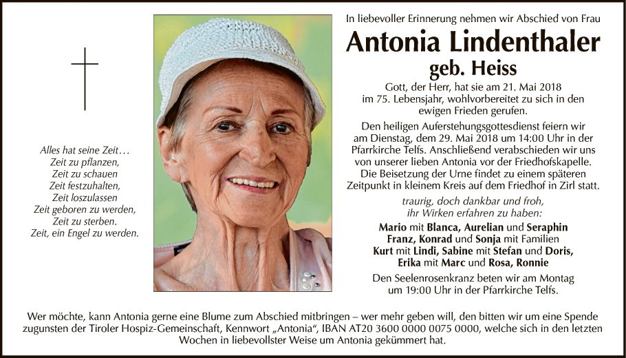 Antonia Lindenthaler