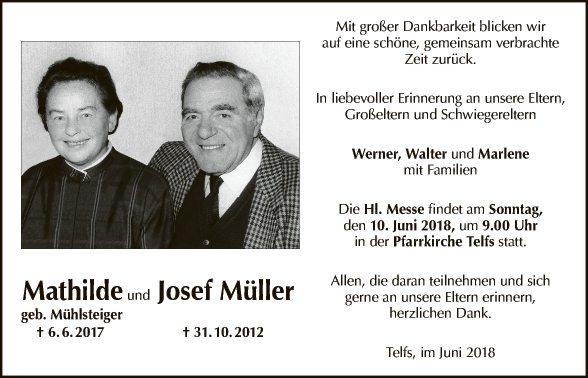 Mathilde und Josef Müller