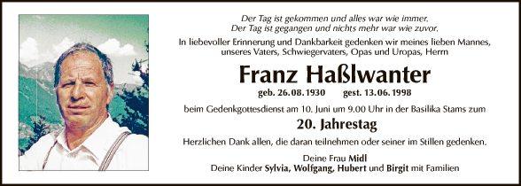 Franz Haßlwanter
