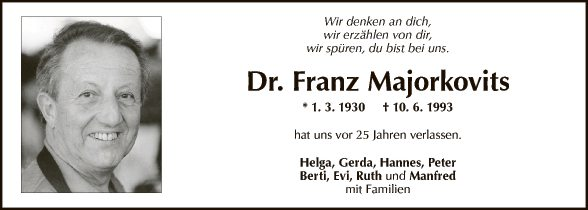 Dr. Franz Majorkovits