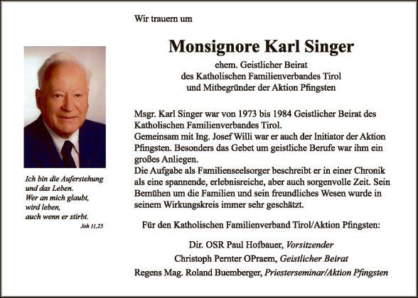 Msgr. Karl Singer