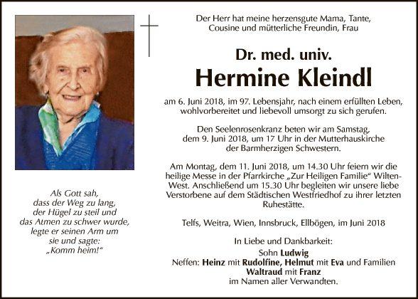 Dr. med. univ. Hermine Kleindl