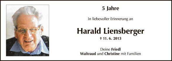 Jahrtag Harald Liensberger