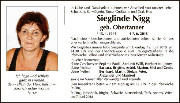 Sieglinde Nigg