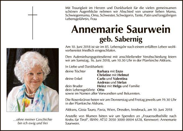 Annemarie Saurwein