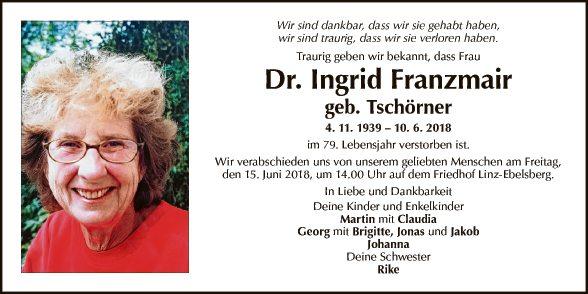 Dr. Ingrid Franzmair