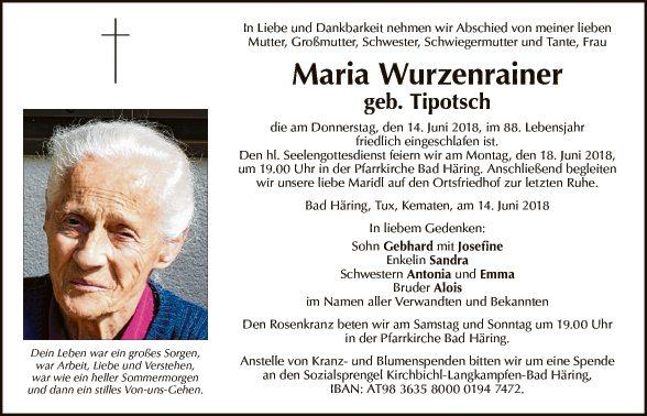 Maria Wurzenrainer