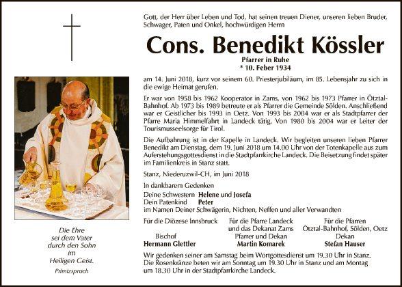Pfarrer Benedikt Kössler