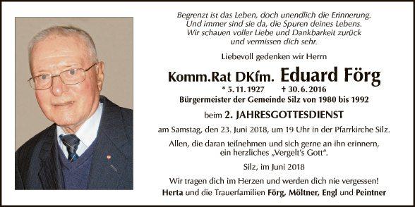 Komm.Rat DKfm. Eduard Förg