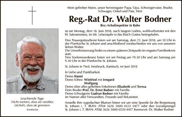 Dr. Walter Bodner