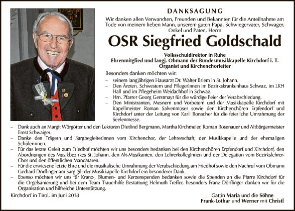 OSR Siegfried Goldschald