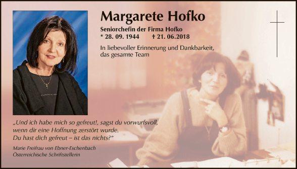 Margarete Hofko