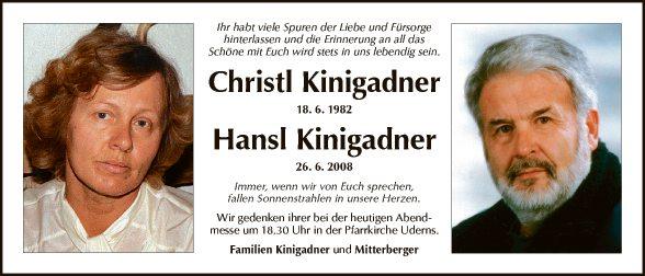 Christl + Hansl Kinigadner