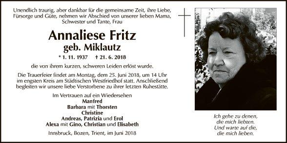Annaliese Fritz