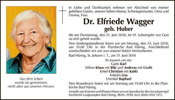 Dr. Elfriede Wagger