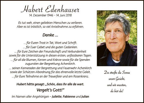 Hubert Edenhauser