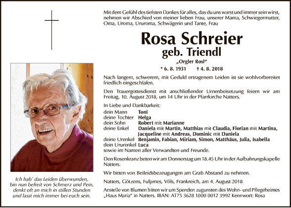 Rosa Schreier