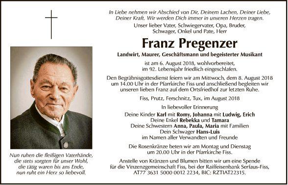 Franz Pregenzer