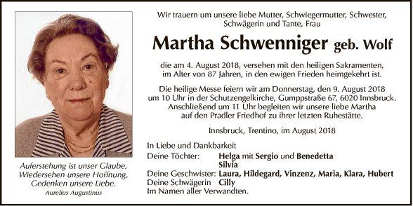 Martha Schwenniger