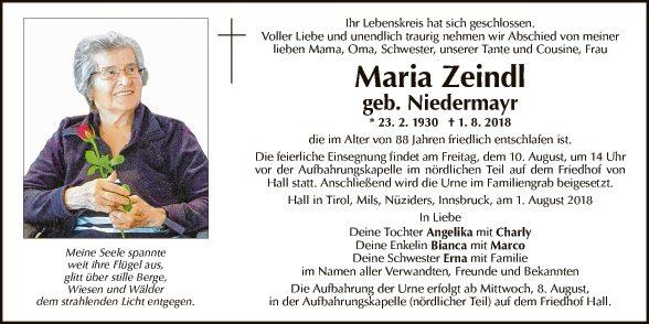 Maria Zeindl