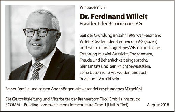 Dr. Ferdinand Willeit