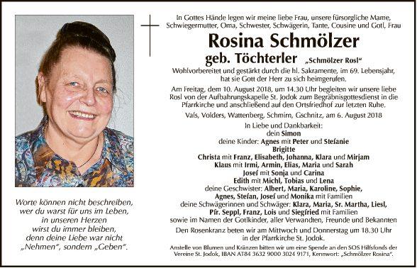 Rosina Schmölzer