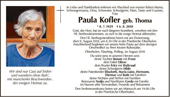 Paula Kofler