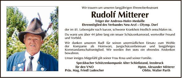 Rudolf Mitterer