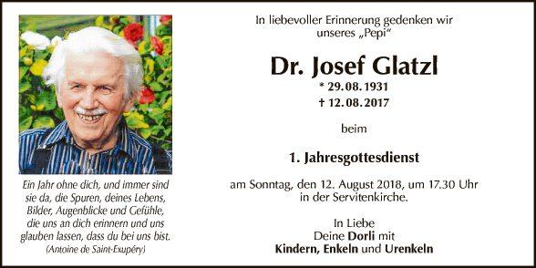 Jahrtag Dr. Josef Glatzl
