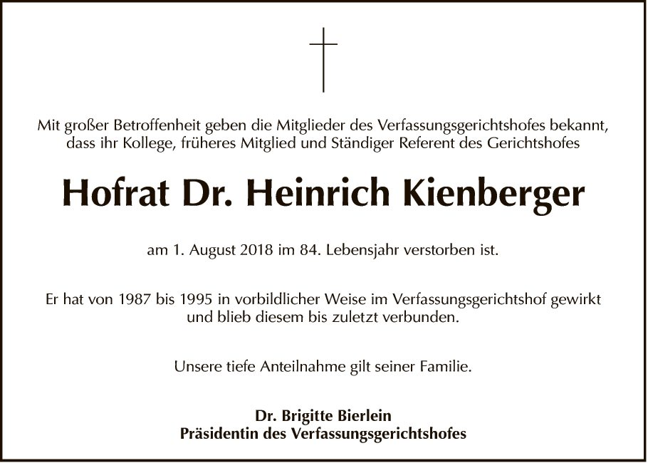 Hofrat Dr. Heinrich Kienberger