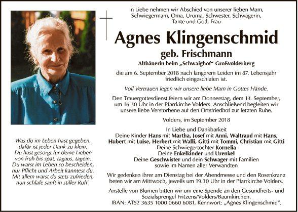 Agnes Klingenschmid