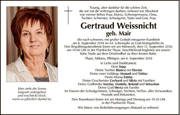 Gertraud Weissnicht