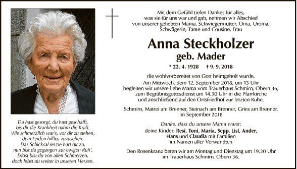 Anna Steckholzer