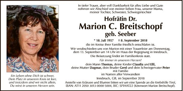 Hofrätin Dr. Marion C. Breitschopf