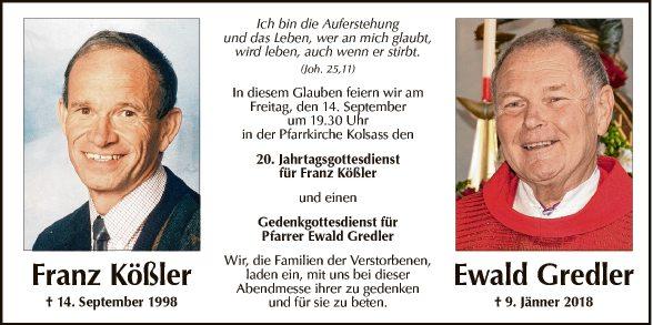 Franz Kößler und Ewald Gredler