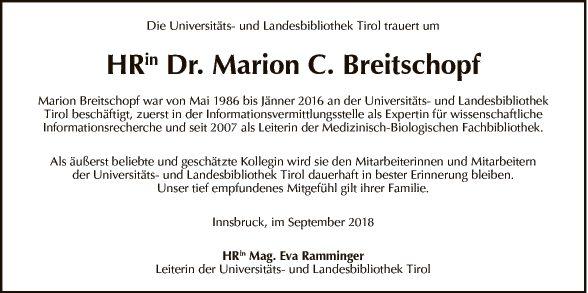 Dr. Marion C. Breitschopf