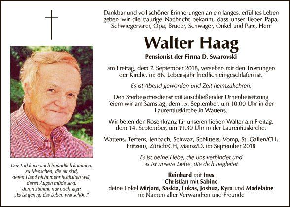 Walter Haag