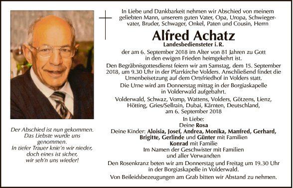 Alfred Achatz