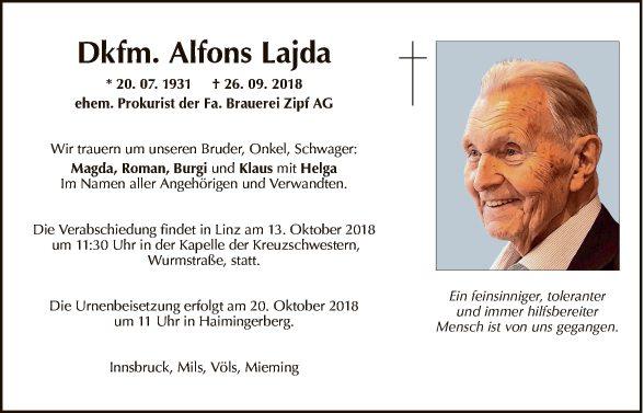 Dkfm. Alfons Lajda