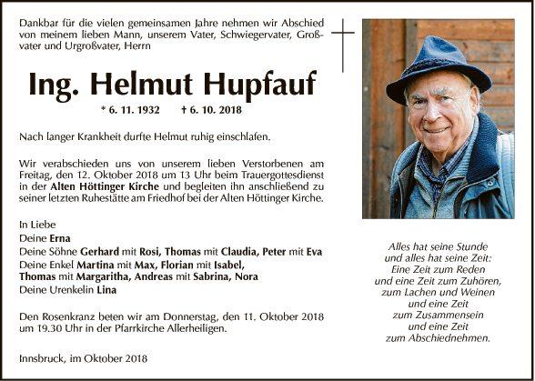 Ing. Helmut Hupfauf