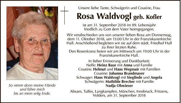 Rosa Waldvogel