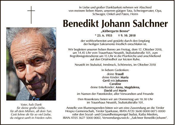 Benedikt Johann Salchner