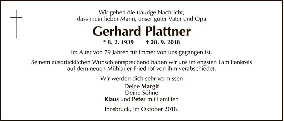 Gerhard Plattner
