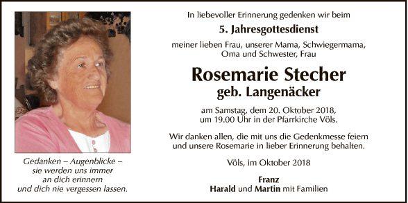 Rosemarie Stecher
