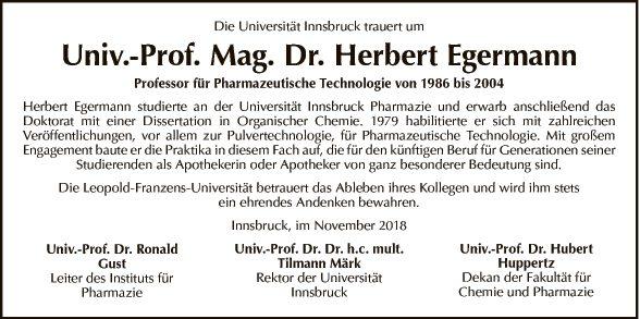 Dr. Herbert Egermann