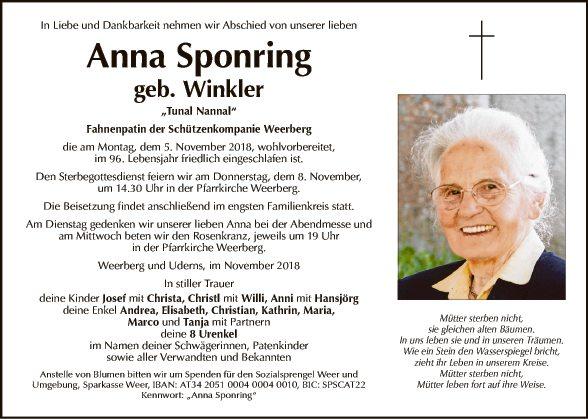 Anna Sponring