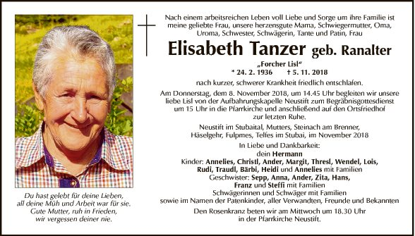 Elisabeth Tanzer