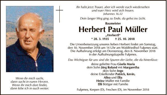 Herbert Paul Müller