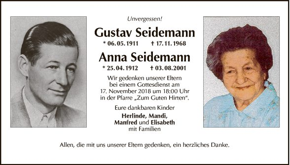 Anna und Gustav Seidemann