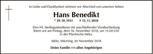 Hans Benedikt